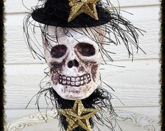 Creepy Halloween Decoration Skull Halloween Ornament Day of the Dead