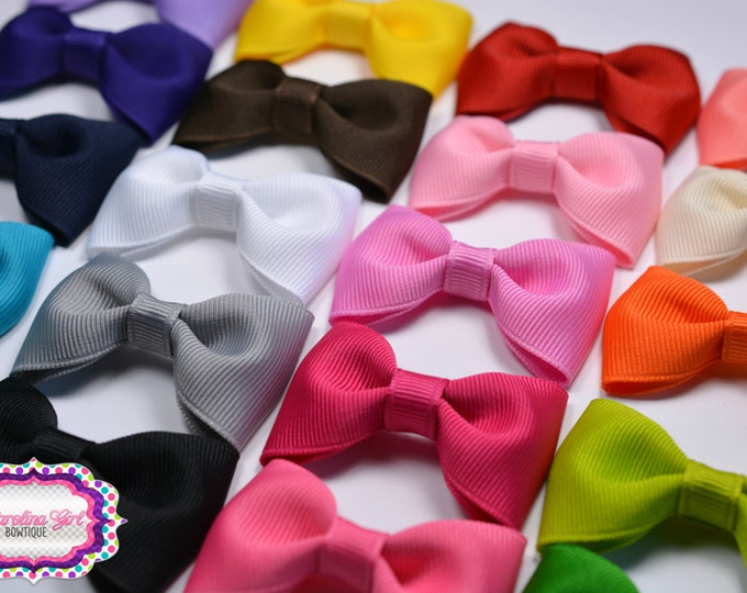 "Pick 1 ~ 2.5"" Hair Bow Tuxedo Bow Simple Bow Boutique Bow for Babies Toddlers Girls Hair Bows"