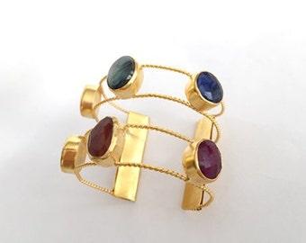 CHRISTMASS SALE-Mixed Stone CUFF Bracelet