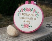Beyonce Wasn't Built in a Day - Cross Stitch Kit - A Dry Wit July 2015