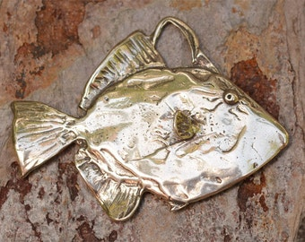 Artisan Fish Pendant in Sterling Silver