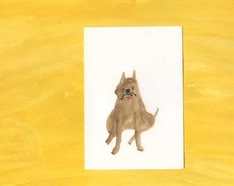 Original dog painting portrait - 100 Hideous Hounds - No. 58