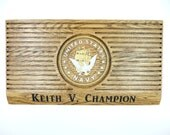 NAVY COIN HOLDER Display Rack Custom Personalized Military Challenge Coins United States Retirement Promotion Gift