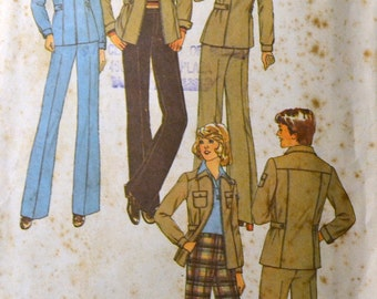 Vintage 1970s Sewing Pattern Simplicity 7770 Misses' Pant Suit Bust 36 inches Complete