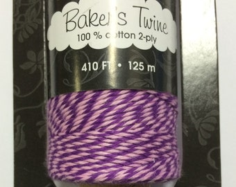 Bakers Twine Purple Pink - Full spool - 410 ft
