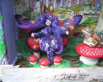 Teeny Tiny 2 and a half inch Purple Fairy