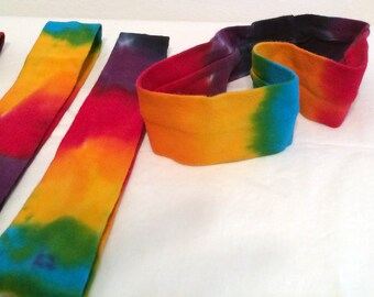 Tie Dye Rainbow Cotton/Lycra Head Bands