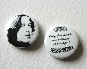 Oscar Wilde Quote Fridge Magnet Brilliant At Breakfast