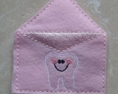 pink tooth fairy mailing envelope