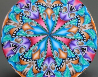 Polymer Clay Kaleidoscope Cane -'Once Upon' (36aa)