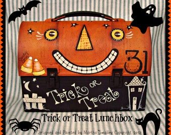 Apple Tree Cottage Original Design E Pattern - Trick or Treat Lunchbox