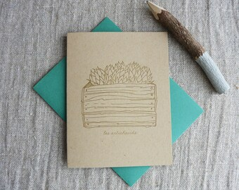Letterpress Greeting Card - French Market - Artichoke - FRM-172