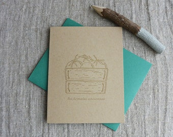 Letterpress Greeting Card - French Market - Heirloom Tomato - FRM-174