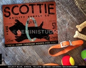 Scottie Scottish Terrier Agility Dog illustration graphic art on gallery wrapped canvas by stephen fowler