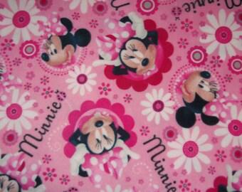 Disney Minnie Mouse Pink Fleece Baby Blanket Pet Lap Security Shower Gift