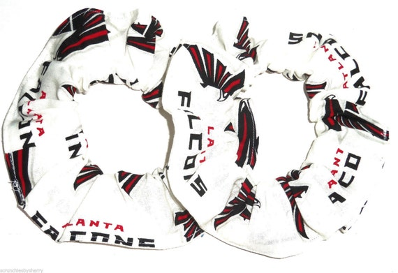 2 Atlanta Falcons Hair Scrunchie NFL Football Fabric Scrunchies by Sherry Ponytail Holders Ties