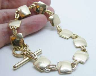 Solid 9k Gold Crib Bracelet - Made to Order, handmade gold bracelet