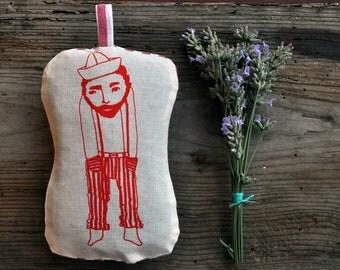 Le Solitaire / sachet lavender pillow  / organic self homegrown lavender