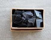 Small Box Full of Vintage Black Frame Photo Corners