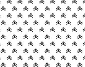 Military Max by Riley Blake and Fabric Shoppe- Military Skulls in Black, Fat Quarter, Half Yards, or Yardage
