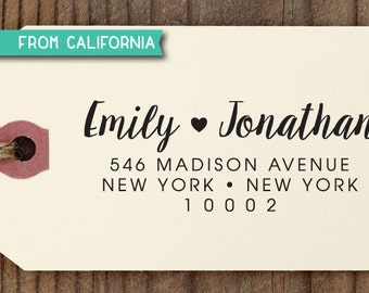 custom ADDRESS STAMP with proof from USA, Eco Friendly Self-Inking stamp, return address stamp, custom stamp, wedding stamp with heart 247