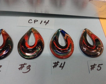 Choose your Color of Murano Style Solid Glass Focal Center Piece  for Necklace  CP 14