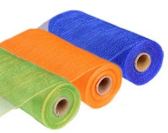 "10"" x 10 yds - Solids Deco Mesh Rolls - Poly Deco Mesh Rolls - You choose color"