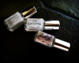 Rarotonga Perfume Oil - Coconut Ylang Ylang Vanilla White Musk Tahitian Gardenia
