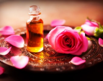 Lumineux... Lush Velveteen Facial Serum Facial Elixir with Rose Frankincense Helichrysum Sea Buckthorn Berry