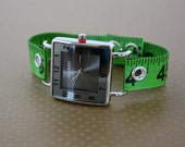 Tape Measure Watch with Square Face