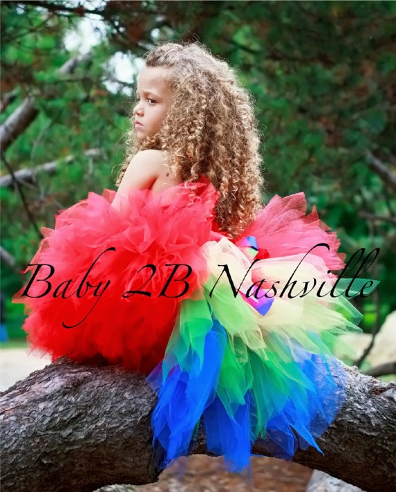 Parrot Costume Tutu for Girls 5-6T Tutu Only