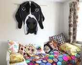 Hank, Frankly - English Pointer Wall Art Quilt