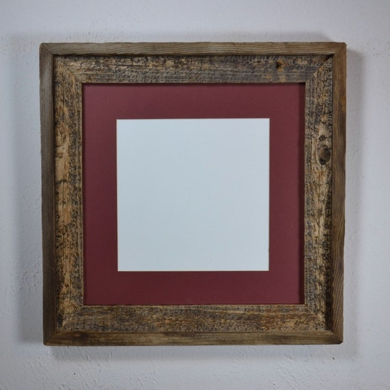 12x12 Photo Frame From Repurposed Wood With Mat For By