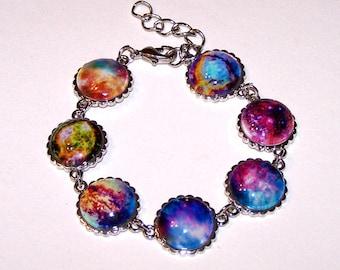 colorful 7 nebula bracelet