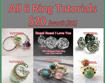 WIRE JEWELRY TUTORIAL - Ring Tutorials (6) Package