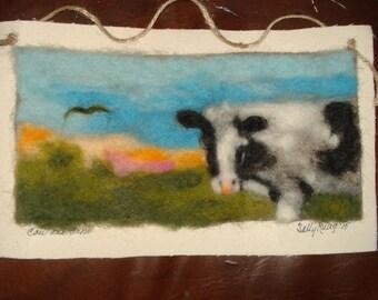 The Cow needle felting