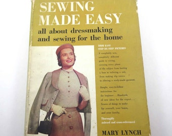 Sewing Made Easy Vintage 1950s Instruction Book by Mary Lynch