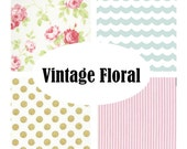 Custom Crib Bedding-Vintage Floral