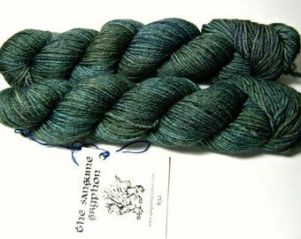 Sanguine Gryphon Zaftig Bugga Yarn - Starry Night Cracker Worsted Weight