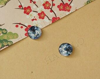 10pcs handmade the earth planet globe cabochons 12mm (12-0738)
