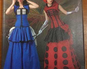 Doctor Who Dr Tardis Dalek Sewing Pattern Simplicity 1095 Sizes 6-8-10-12-14 Costume