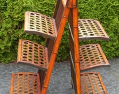 Rattan Folding Shelf  RESERVED FOR BARBARAS