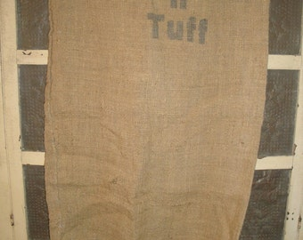 Vintage Burlap Sack | Old Burlap Sack | Ruff And Tuff Burlap Bag