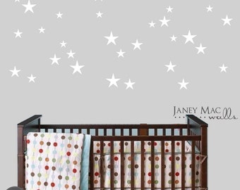 Star Wall Decal Decor - Stars Sticker Bedroom Nursery Ideas - Boy Girl Stars Wall Decoration - CN127