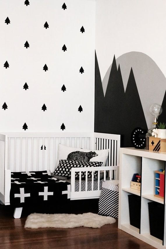 Items Similar To Pine Trees Wall Decal Set Tree Wall
