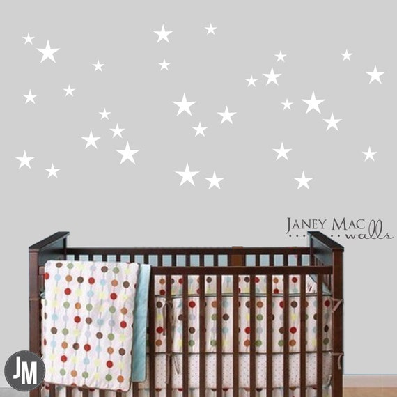 Star Wall Decal Decor Stars Sticker Bedroom By Janeymacwalls