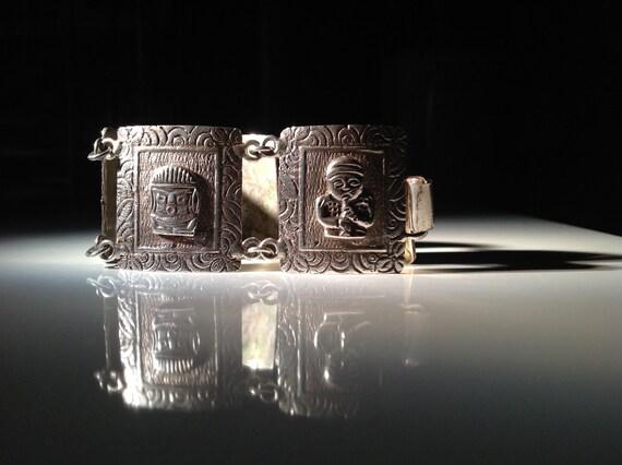Colombian 900 Silver Panel Bracelet