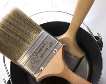 Decorator's Paintbrush with Personalisation - Personalized Paint Brush - Engraved Paintbrush