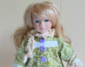 Vintage 15 inch Doll with Brand New Dress