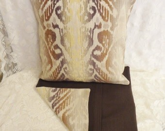 "PILLOW COVERS - Set of Two 18""x18"" Covers - Inserts Not Included - Abstract Pattern in Columns - #PLW109005"